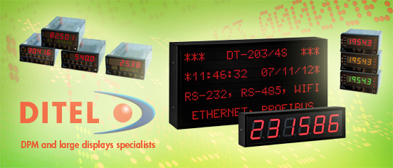 DITEL LED Display Solutions for Industry, Services and Trade